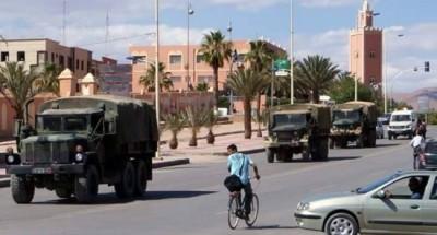 جيش المغرب يحرك عتـاده نحو طانطان إستعدادا لمناورة عسكرية مغربية أمريكية